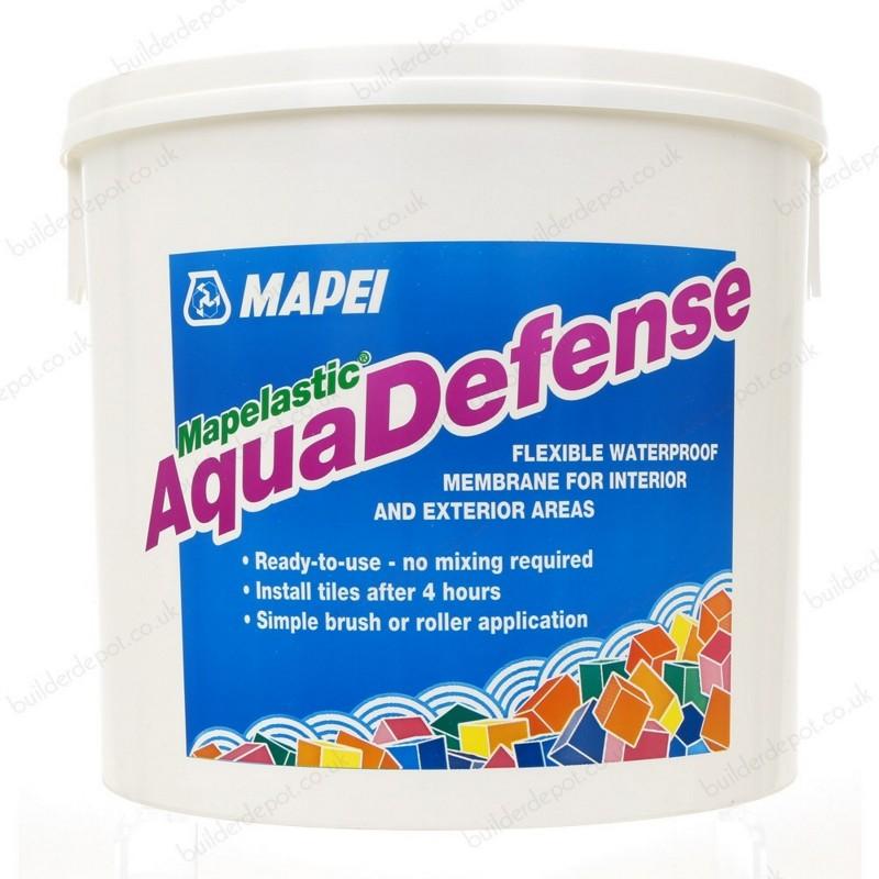 Aquadefense mapelastic membrana impermeabilizzante pronta for Guaina liquida trasparente mapei