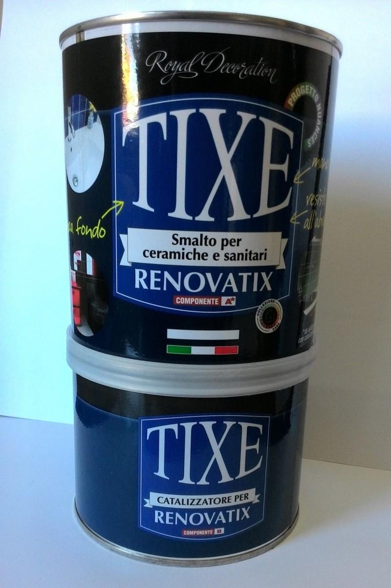 Smalto per ceramica sanitari renovatix bianco tixe 500 250ml catalizzatore - Smalti idrorepellenti per bagno ...