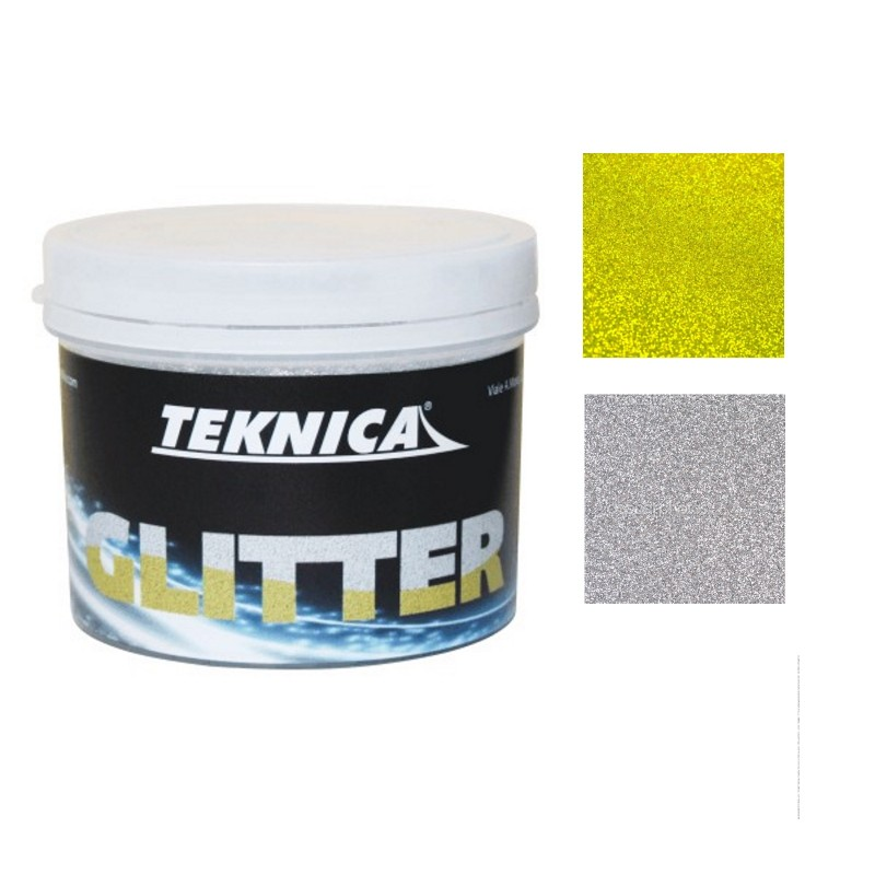 Glitter per pittura smalti acrilici all 39 acqua flatting for Pittura glitter argento